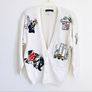 IB Diffusion cities 90s vintage cardigan sweater for sale